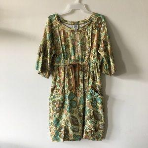 ivy jane Dresses - Ivy Jane linen dress pockets drawstring waist